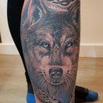 Wolf Tattoo irisch von Marielle