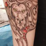 Jugendstil Löwe tattoo