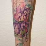 Iris meets Geometrie Tattoo von Marielle
