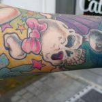 Girlyskull Mädchen Tattoo Totenkopf von Marielle Art