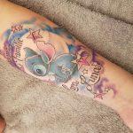 Familientattoo mit Stitch gestochen von Marielle-Art