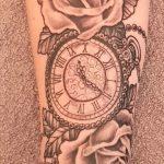 Tattoo Uhr Taschenuhr von Marielle-Art