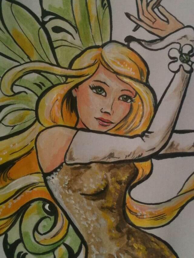 Wandmalerei in Fingernagelstudio