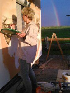 Marielle bei der Arbeit