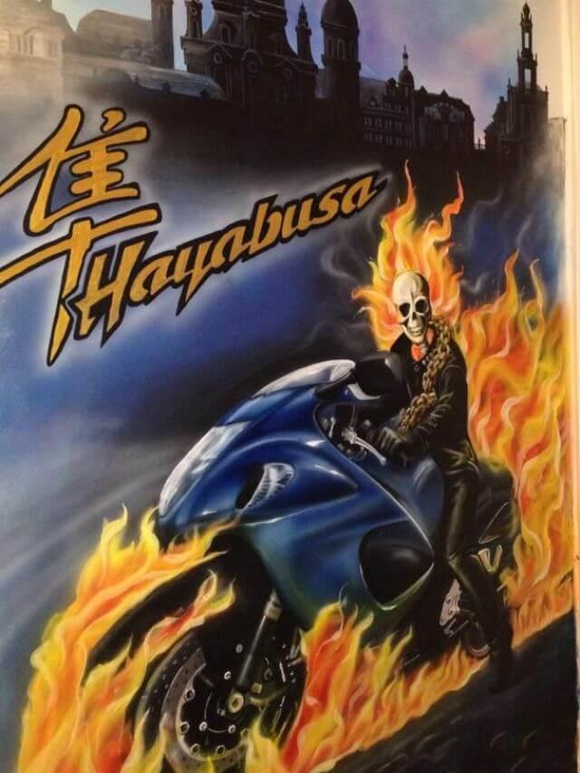 Ghostrider fährt ne Hayabusa