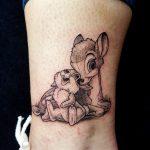 Comic Tattoo Bambi und Klopfer
