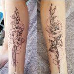 Geburtsmonate der Kinder als Tattooblüten