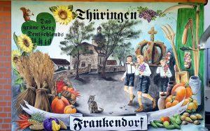 Wandmalerei in Frankendorf bei Weimar