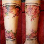 tattoo Blüten Armband von Marielle